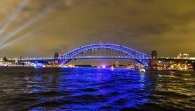Sydney Harbour Bridge - livliga Sydney royaltyfri bild