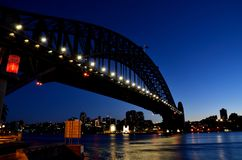 Sydney Harbour Bridge Sydney Harbour Luna Park Fotografie Stock