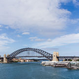 Sydney Harbour Bridge. With Modern Apartments in Foreground Stock Photo