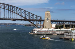 Sydney Harbour Bridge. With Modern Apartments in Foreground Stock Photos