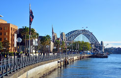 Sydney Harbour Bridge & Museum of Contemporary Art Royalty Free Stock Photos