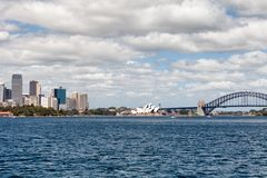 Sydney Harbour Bridge. Sydney, New South Wales, Australia, September 13, 2013: Sydney Harbour Bridge, known colloquially  as The Coat Hanger, seen from on the stock photography