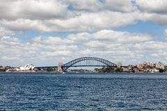 Sydney Harbour Bridge. Sydney, New South Wales, Australia, September 13, 2013: Sydney Harbour Bridge, known colloquially  as The Coat Hanger, seen from on the stock photos