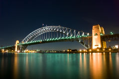 Sydney Harbour Bridge By Night Stock Photo