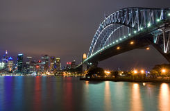 Sydney Harbour Bridge at night Stock Photos