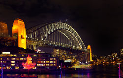 Sydney Harbour Bridge by Night Stock Photography