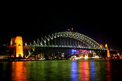 Sydney Harbour Bridge at night Stock Image