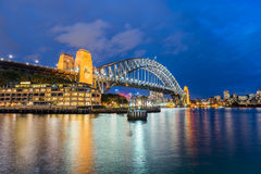 Sydney Harbour Bridge at night. Long exposure Sydney Harbour Bridge Sydney Australia at night Royalty Free Stock Photography