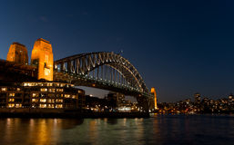 Sydney Harbour bridge. In night scenes Stock Photo