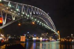Sydney Harbour Bridge (noite) Imagens de Stock