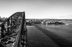 Sydney Harbour Bridge and North Sydney Skyline Stock Image