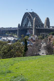 Sydney harbour bridge from the observatory hill Royalty Free Stock Photos