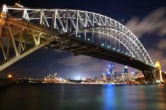 Sydney Harbour Bridge and Opera. Sydney Opera and Harbour-Bridge at night Royalty Free Stock Image