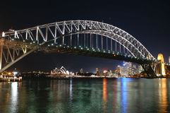 Sydney Harbour Bridge and opera. Sydney Opera and Harbour-Bridge at night Stock Image