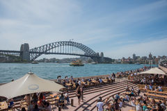 Sydney Harbour Bridge and Opera Bar royalty free stock photography