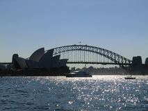 Sydney Harbour Bridge and Opera Royalty Free Stock Photo