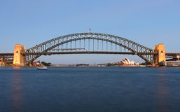 Sydney Harbour Bridge and Opera House Stock Photo