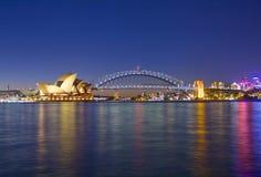 The Sydney Harbour Bridge and Opera House Royalty Free Stock Photo