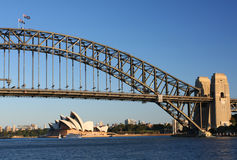 The Sydney Harbour Bridge and Opera House Stock Photos