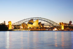 The Sydney Harbour Bridge and Opera House Royalty Free Stock Images