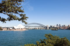 Sydney, Harbour Bridge and Opera House Royalty Free Stock Photos