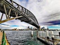 Sydney Harbour Bridge and Opera House, Australia. Sydney harbour bridge opera house australia royalty free stock photography