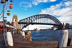 Sydney Harbour Bridge and Opera House, Australia Stock Images