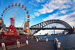 Sydney Harbour Bridge and Opera House, Australia Stock Photo