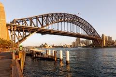 Sydney Harbour Bridge Opera House, Australie Image stock