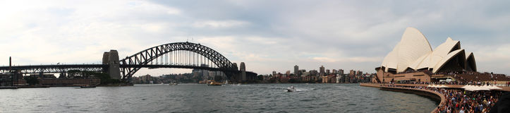 Sydney Harbour Bridge and Opera house Royalty Free Stock Image