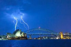 Sydney Harbour Bridge & Opera House Royalty Free Stock Photography