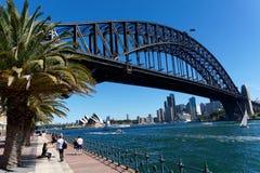 Sydney Harbour Bridge and Opera House Stock Photo