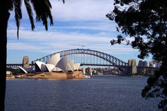 Sydney Harbour Bridge and Opera House Stock Photography