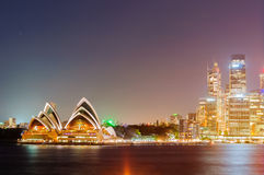 Sydney Harbour Bridge, Opernhaus Stockbild