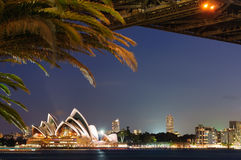 Sydney Harbour Bridge, Opernhaus Lizenzfreie Stockfotos