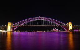 Sydney Harbour Bridge in Pink Stock Image