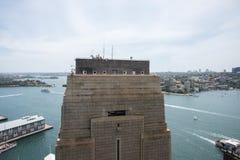Sydney Harbour Bridge Pylon Fotografia Stock Libera da Diritti