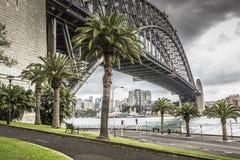 Sydney Harbour Bridge in a quiet spring sunrise in Sydney, Austr Royalty Free Stock Photo