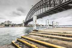 Sydney Harbour Bridge in a quiet spring sunrise in Sydney, Austr Royalty Free Stock Photography