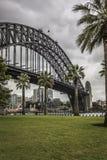 Sydney Harbour Bridge in a quiet spring sunrise in Sydney, Austr Royalty Free Stock Photos