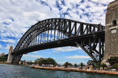 Sydney Harbour Bridge. Sydney's iconic Sydney Harbour Bridge viewed from Milsons Point, North Sydney Royalty Free Stock Images
