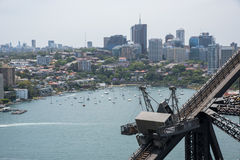 Sydney Harbour Bridge: Scaffolding and Waterfront View Royalty Free Stock Image