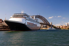 Sydney Harbour Bridge and ship Royalty Free Stock Photo