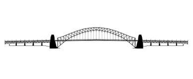 Free Sydney Harbour Bridge Silhouette Royalty Free Stock Image - 62262736