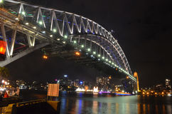 Sydney Harbour Bridge (soirée) Images stock