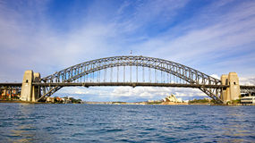 Sydney Harbour Bridge. A steel arch bridge across Sydney Harbour, with the iconic Sydney Opera House in the background, New South Wales, Australia Royalty Free Stock Image