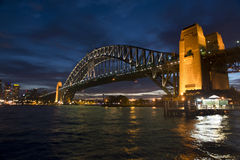 Sydney harbour bridge sunset Stock Photography
