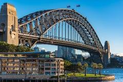 Sydney Harbour Bridge on sunny day Royalty Free Stock Photo