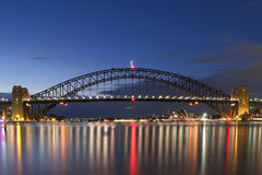 Sydney Harbour Bridge at sunrise. Royalty Free Stock Photography