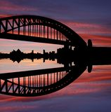 Sydney Harbour Bridge at sunset Stock Images
